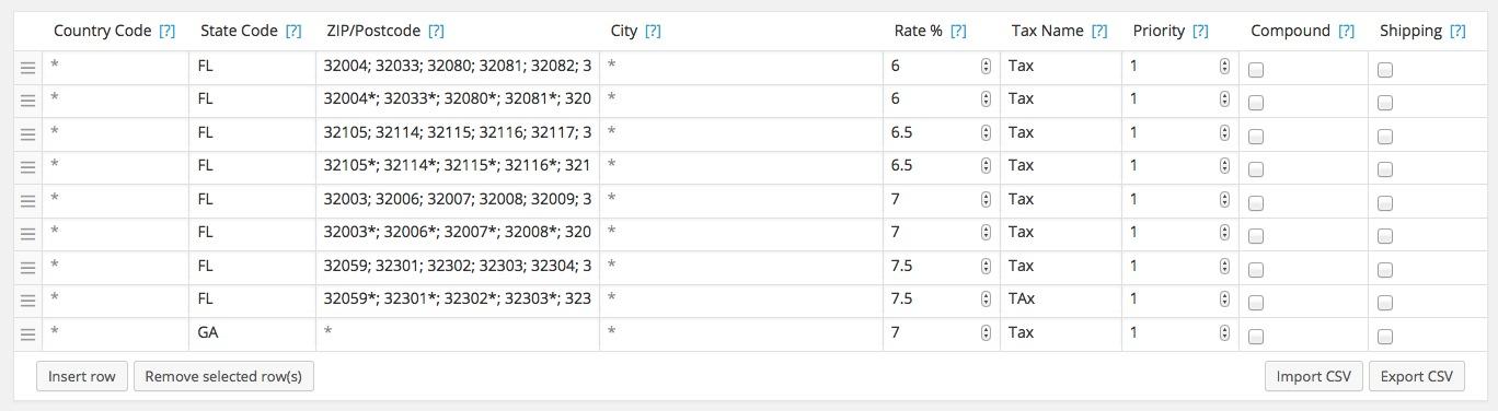 Florida Sales Tax Calculator >> Florida Sales Tax Rates In Woocommerce Adam Taylor